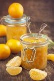 柑橘自创果酱。 免版税图库摄影