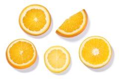 柑橘轮子,顶视图,道路 库存照片