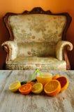 柑橘静物画 免版税图库摄影