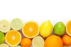 柑橘水果柠檬石灰桔子 桔子、石灰和柠檬 免版税库存图片