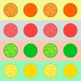 柑橘水果柠檬石灰桔子 库存照片