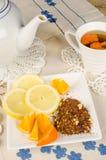 柑橘水果的rooibos 库存照片