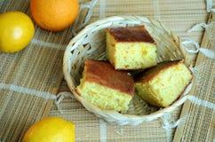 柑橘水果蛋糕 免版税库存照片