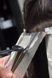 染料头发 免版税库存照片