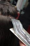 染料头发 免版税库存图片