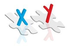 染色体概念 库存照片