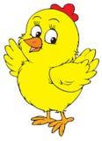染黄小鸡(向量夹子艺术) 库存图片