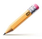 染黄铅笔 库存例证