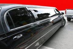 染黑大型高级轿车 免版税库存图片
