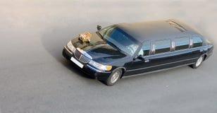 染黑汽车大型高级轿车婚礼 免版税图库摄影