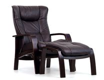 染黑皮革可躺式椅 库存图片