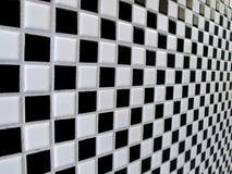 染黑空白棋盘的瓦片 库存图片