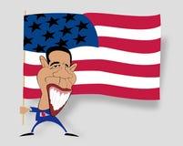 染黑第一obama星形 库存图片