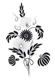 染黑花束白色 库存图片