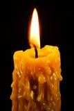 染黑被点燃的蜡烛 库存照片