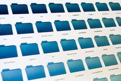 染黑计算机文件屏幕系统 图库摄影