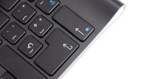 染黑计算机键盘 库存图片