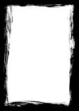 染黑边界油漆冲程 免版税图库摄影
