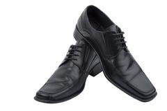 染黑鞋子 库存图片
