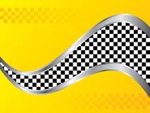 染黄出租汽车样式背景 库存照片
