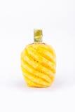染黄在白色被隔绝的背景健康菠萝果子食物的被剥皮的菠萝 库存照片