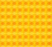 染黄抽象菱形背景 免版税图库摄影