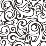 染黑模式无缝的白色 也corel凹道例证向量 免版税库存图片