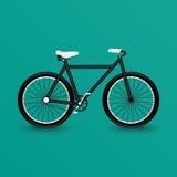 染黑自行车 免版税库存照片