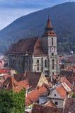 染黑brasov教会罗马尼亚 免版税库存照片