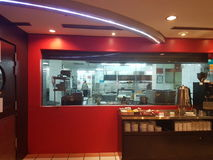 柔佛州11月8日2016年Baru,马来西亚 餐馆设计在M随员旅馆 免版税库存照片
