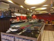 柔佛州11月8日2016年Baru,马来西亚 餐馆设计在M随员旅馆 免版税库存图片