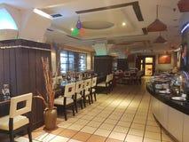 柔佛州11月8日2016年Baru,马来西亚 餐馆设计在M随员旅馆 库存图片