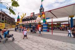 柔佛州- 11月14 :在Legoland马来西亚的大门2012年11月14日在柔佛州马来西亚 它是第一个Legoland公园对o 免版税图库摄影