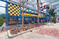 柔佛州- 11月14 :Legoland在2012年11月14日的柔佛州马来西亚 Legoland游乐园在马来西亚 库存照片