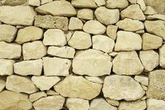柔和曲调关闭了历史的石墙在西西里岛意大利 库存图片
