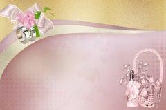 柔和的婚礼背景 免版税库存照片