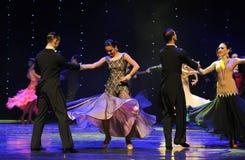 柔和的弓国际标准舞蹈这奥地利的世界舞蹈 图库摄影