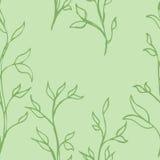 从柔和的手植物的样式 免版税库存照片