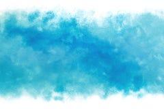 柔和的淡色彩上色了在葡萄酒水彩油漆背景的蓝天摘要 免版税图库摄影