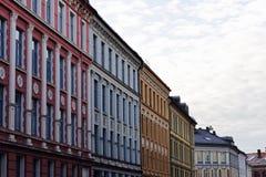 柔和的淡色彩城市 库存照片