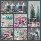 柔和的淡色彩色的圣诞节装饰 免版税库存照片