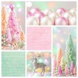 柔和的淡色彩色的圣诞节 免版税库存图片