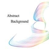 柔和的淡色彩色的曲线 抽象背景 标签的,横幅,徽章,海报,贴纸模板 免版税库存照片