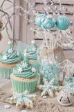 柔和的淡色彩色的甜点 库存图片
