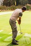 柔和的高尔夫球球击 免版税库存图片
