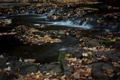 柔滑的小河在秋天 免版税库存图片
