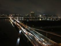 柔滑的车行道在台北 免版税图库摄影