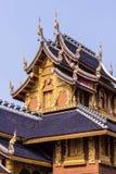 柚木树教堂在Wat Banden, Chiangmai泰国 库存照片