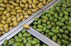 柜台用橄榄 库存照片
