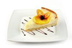 柠檬乳酪蛋糕 库存图片